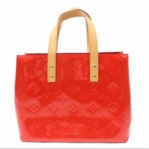 Louis Vuitton Reade Vernis Red Patent Leather Tote